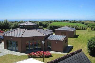 La Poupardière - vue aérienne depuis les chambres
