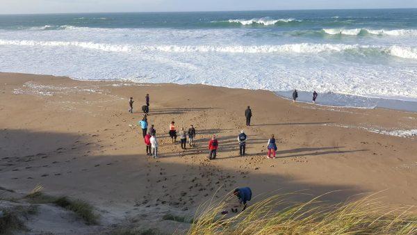 Octobre 2017 : Bain de pied pour les plus courageux dans une eau à 17 degré